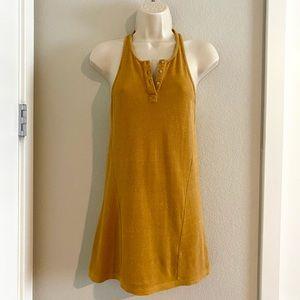 NWOT mustard color Diesel knit tank top